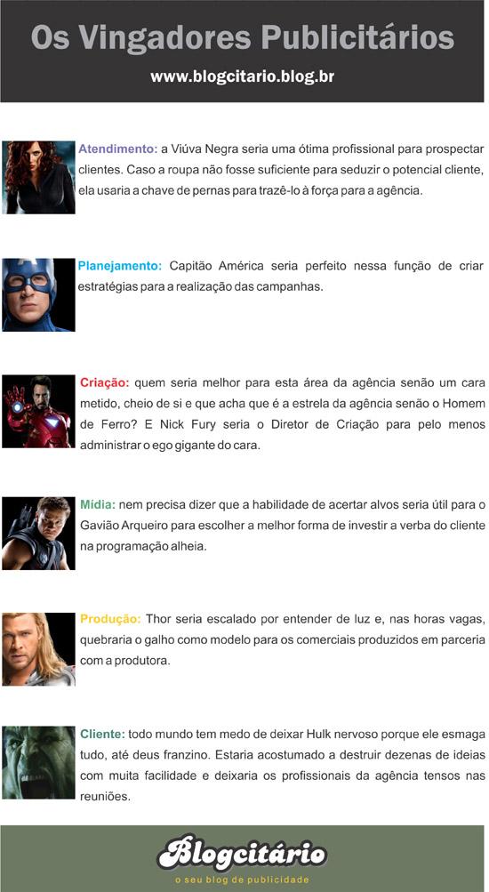 Versão publicitária dos Vingadores