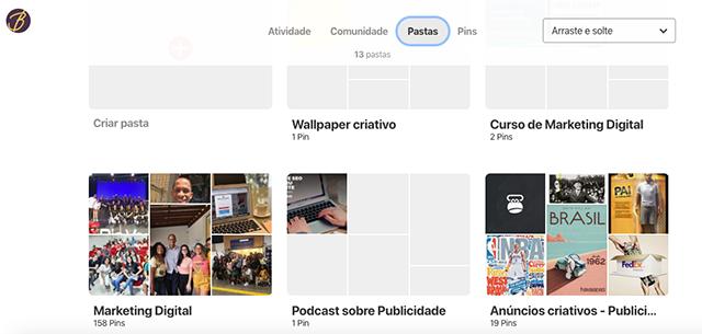 Pinterest do Blogcitario